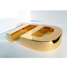 Edelstahl-Kunst-Buchstaben mit modernem Bild