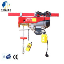 Wire rope mini electric motor hoist 800kg