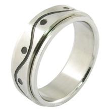 Edelstahl-Schmucksache-homosexuelles Mann-Ring-Gold überzogener Ring