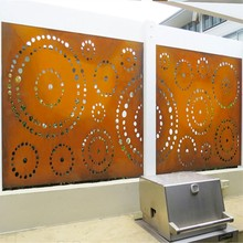 Corten Steel Laser Cut Screen
