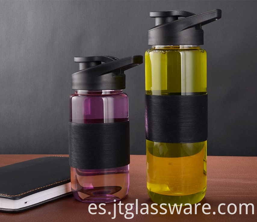 Sports Portable Glass Water Bottle