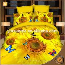 big sunflower printed bedding set ,lovely design