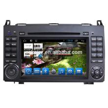 Android 6.0 Fabricant 7 '' 2 Din Lecteur DVD de voiture GPS Navi Noir pour Benz Sprinter / B200 / Vios 09-16 avec Radio Top Qualité