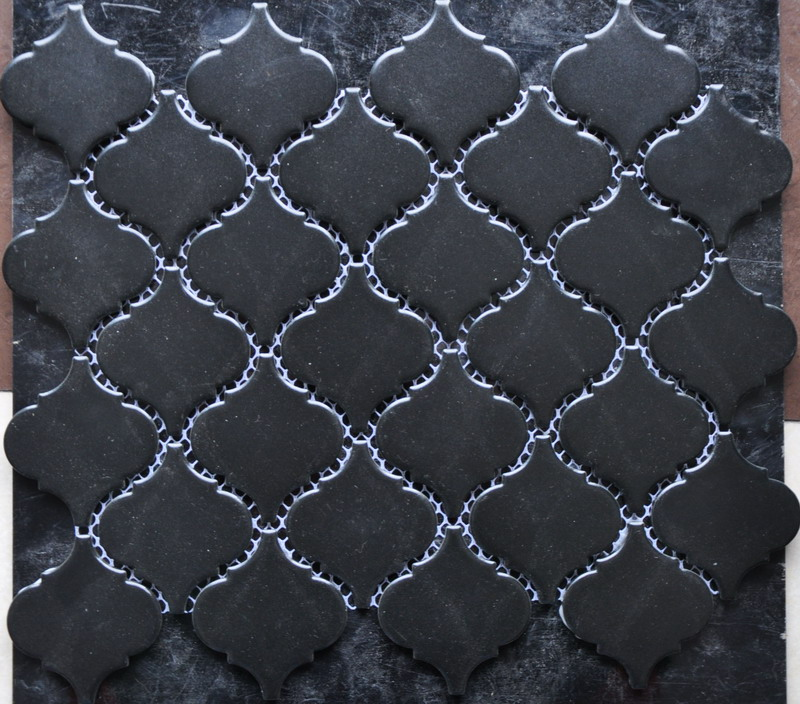 Low Water Absorption Black Porcelain Mosaic