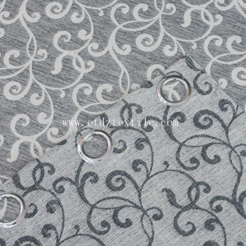 New Fashionable Linen Touching Polyester Material Curtain Fabric XS2006 Black