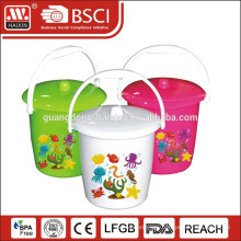 hot sale plastic bucket with lid and handle