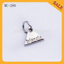 MC280 Новый пользовательский гравированный логотип очарование кулон металлический ключ тег очарование для ювелирных изделий