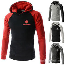 Unisex Black Cotton Hoodie Pullover Hooded Family Coat Sweater