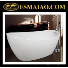 Sanitario Ware Shinning blanco baño de acrílico de baño de tacón alto con desbordamiento (9012)