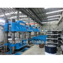 Rubber bridge bearing press