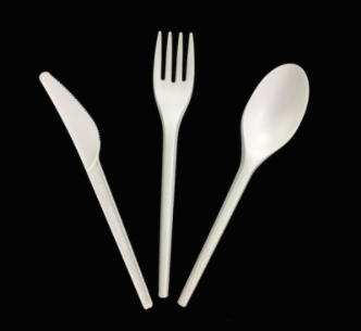 PLA for disposable cutlery