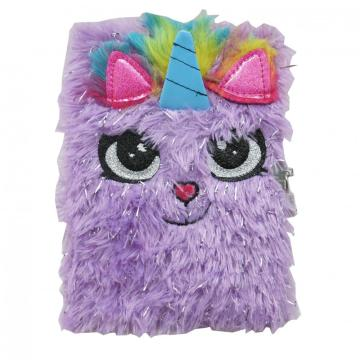 PURPLE PLUSH NOTEBOOK -0