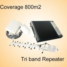Repetidor del G / M de la Tri-Venda, repetidor del G / M para 850 900 1800MHz, aumentador de presión de la señal del teléfono de la célula