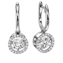 Heißer Verkaufs-Tanzen-Diamant-Schmucksache-925 silberner Bolzen-Ohrring