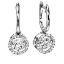 Hot Sales Dancing Diamond Jewelry 925 Silver Stud Earring