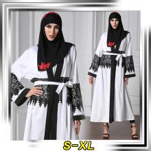 fashion design women soft muslim Polyester and spandex lace fashionable jilbab abaya