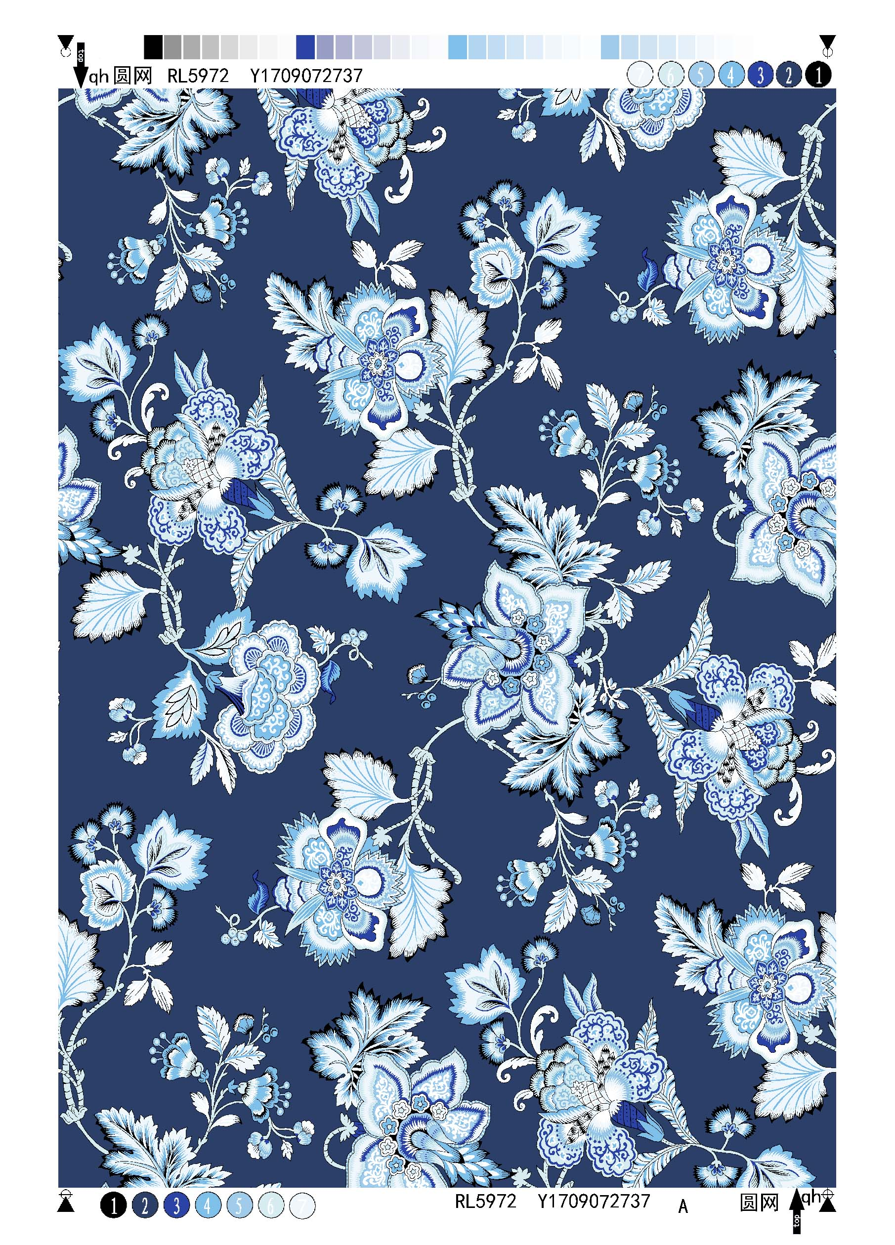 Polyester Bubble Crepe Printing Fabric Ethnic Flower