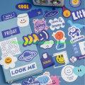 Cartoon Smile Sticker Set for DIY Material