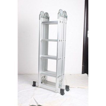Compact aluminum folding ladder