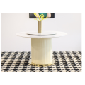 Modern Simple Marble Table With Rotary Table