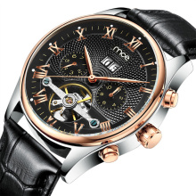 oem automatic stainless steel case skeleton mens watch
