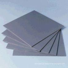 Cor cinza de folha rígida de PVC