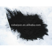 Wood based powdered activated carbon for chemical production