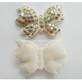 White Butterfly Flocking Fabric Rhinestone Shoe Flower Shoe Ornaments