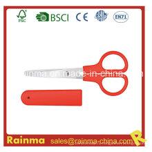 Красные ножницы для канцелярских принадлежностей с футляром для хранения