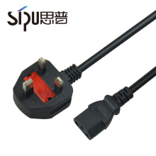 SIPU electrical type plug ac power cord cable uk 3 pin plug for PC
