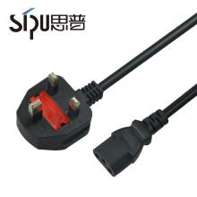 СИПУ высокое качество CE сертифицирована Великобритании силового кабеля 3 сердечников лучшей цене 3*0.75мм2 шнур питания компьютера