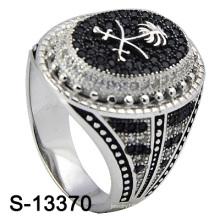 Bague en bijoux en argent 925 en argent sterling pour hommes (S-13370)