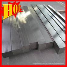 Rods de titânio quadrado em estoque para venda