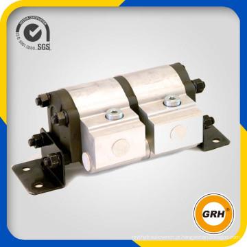 Divisor de fluxo giratório do motor da engrenagem hidráulica com válvula de alívio