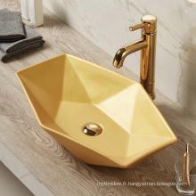 Vente chaude salle de bains colorée bassin d'or