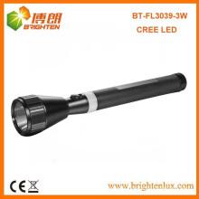 Vente d'usine exportée Mid-easted et Malaisie 3watt Cree Aluminium Nicd Battery Rechargeable la torche Lampe de poche
