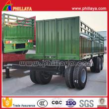 2 Achsen 8 Reifen Landwirtschaftsprodukte Transport Full Trailer