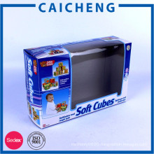 Customized printng paper package toy boxes with plastic window