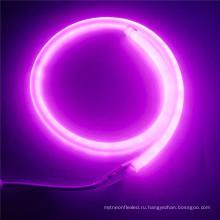 25 мм розовый круглый светодиодный свет 360 градусов Сид неоновый гибкий