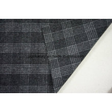 Wool Fabric in Plaid with Black&White