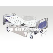 (A-58) - Cama de hospital manual de duas funções com cabeça de cama ABS