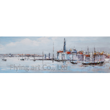 Modern Canvas Wall Art for City View