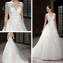 V-Neck Backless Fashionable Beautiful Sexy Wedding Dresses