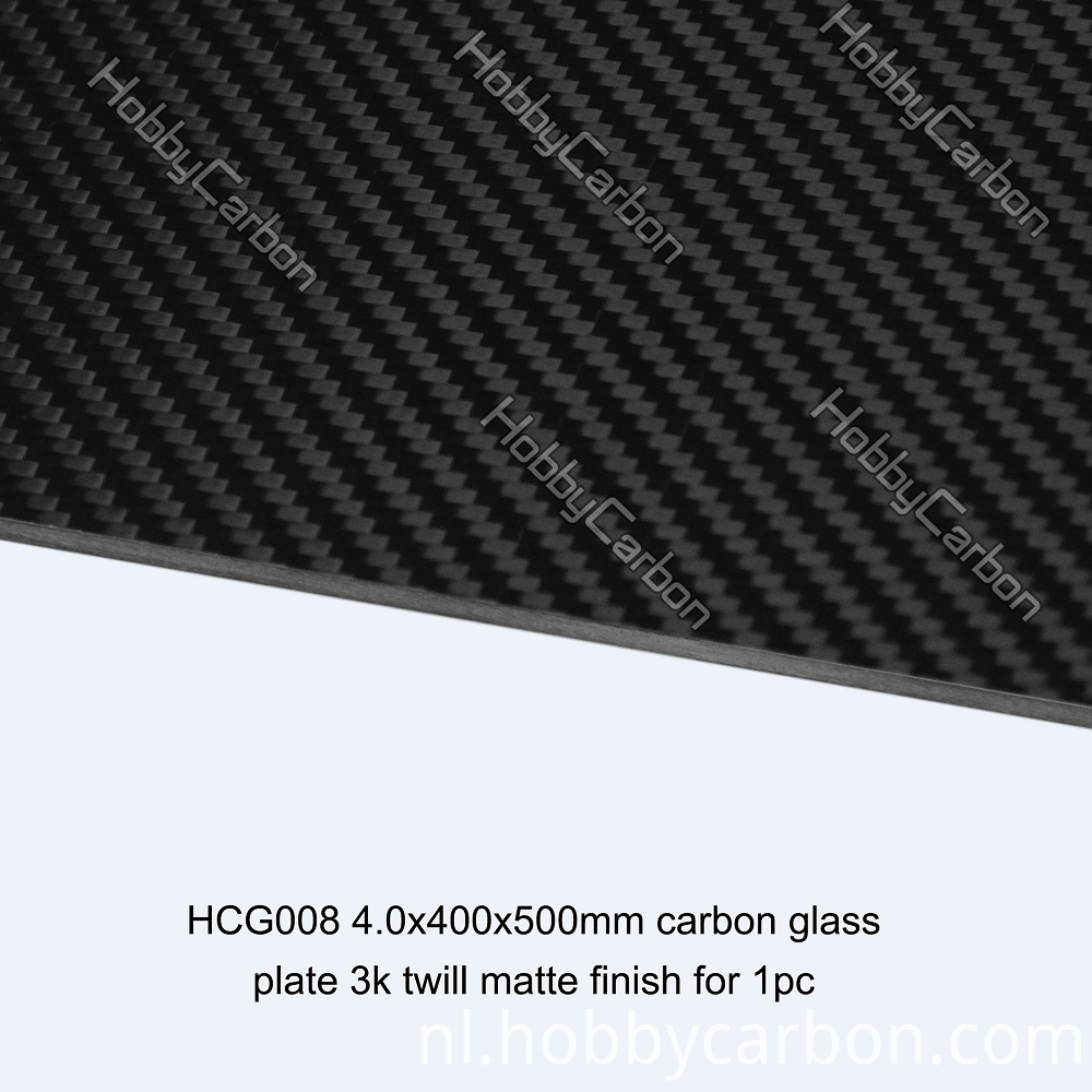 Carbon Glass Plate