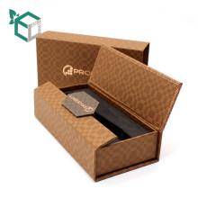 Factory experienced Custom Made Luxury Kraft Paper Watch Box with Foam Insert