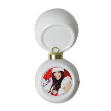 Decoração de Natal pendurada Sublimação personalizada Bolas de Natal cerâmicas simples