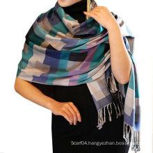 Fashion Viscose Check Pattern Pashmina Scarf