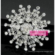 Broche de broche floral de prata esterlina