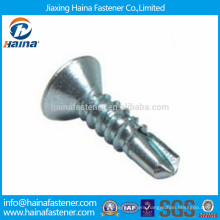 DIN7504 zinc plated philips countersunk head self drilling screws