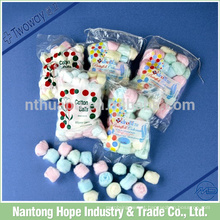 Bolas de algodão rosa bolas de algodão colorida lã